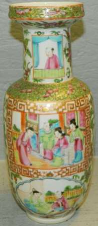19th C. Chinese Rose Mandarin vase