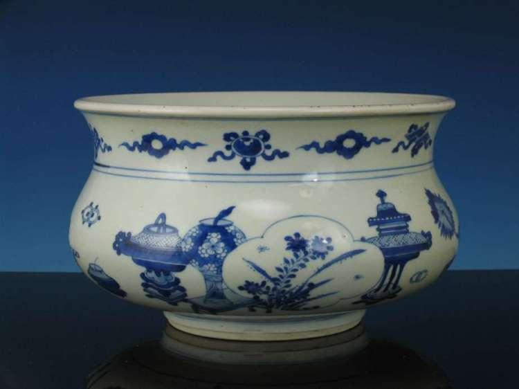 kangxi Period Blue and White Incense Burner