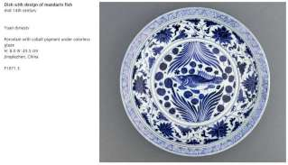 Yuan dynasty Blue and White basin