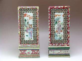 19th C. Chinese Famille Rose Lanterns