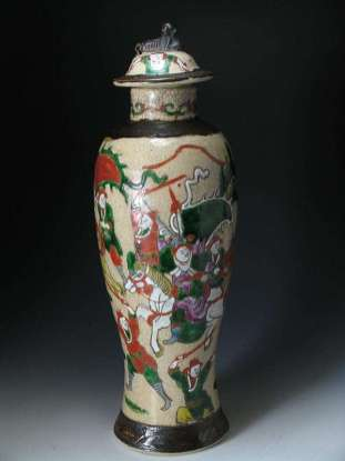 19th C. Crackle vase
