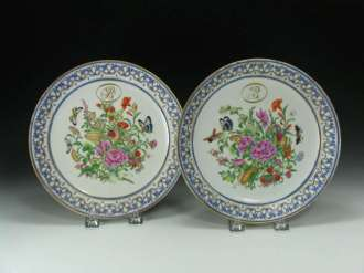 18th C. Chinese Export Famille Rose Plates