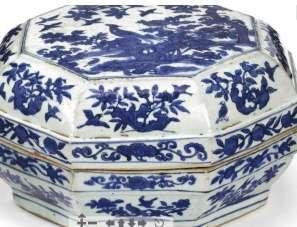 Jiajing Blue and White Porcelain Box.