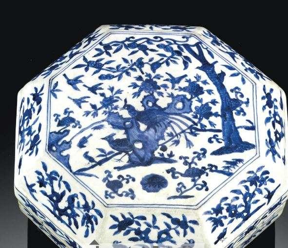 jiajing blue and white marked box
