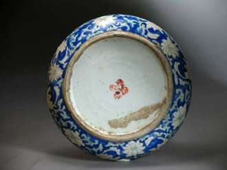 19th C. Chinese Enamel Food Bowl