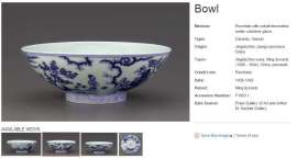 Ming Dynasty Xuande Figural Bowl