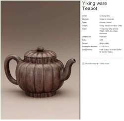 Ming Dynasty Yixing teapot by Li Chung-fang