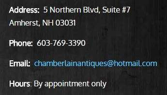 Chamberlain Antiques Contact information
