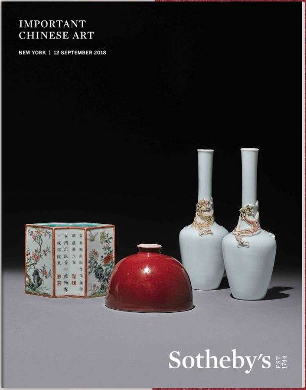 Important Chinese Works of Art Sotheby's 2018