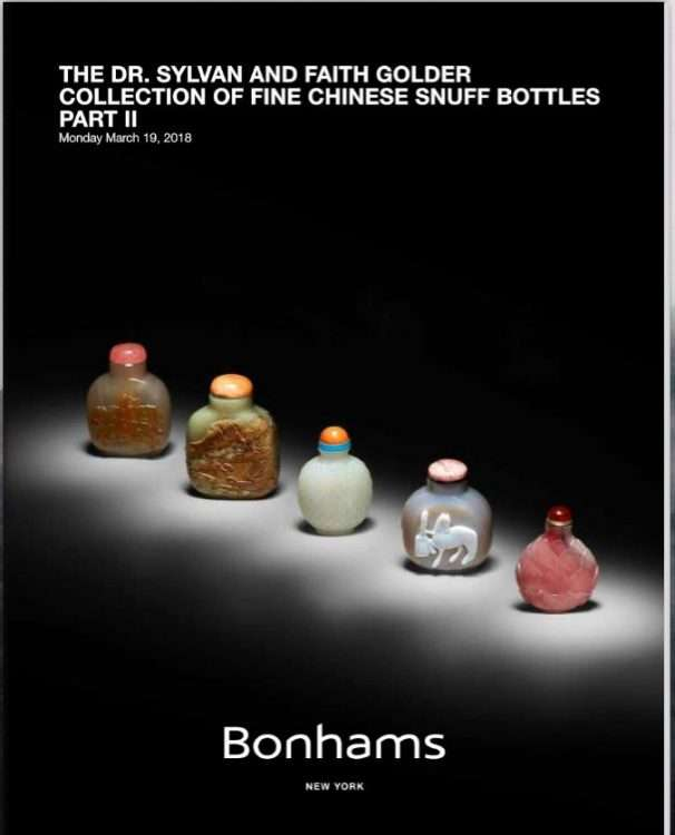 Golder Collection of Snuff Bottles March 19