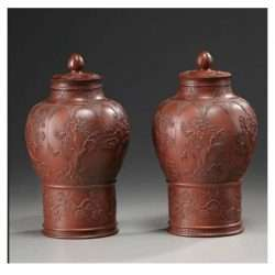 Yixing Molded Decorated Jars