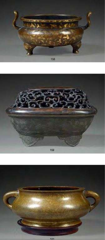 Chinese Ming bronze incense burners