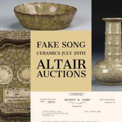 Altair Auctions Fake Chinese Song and Qing Wares July 29 | Opinion