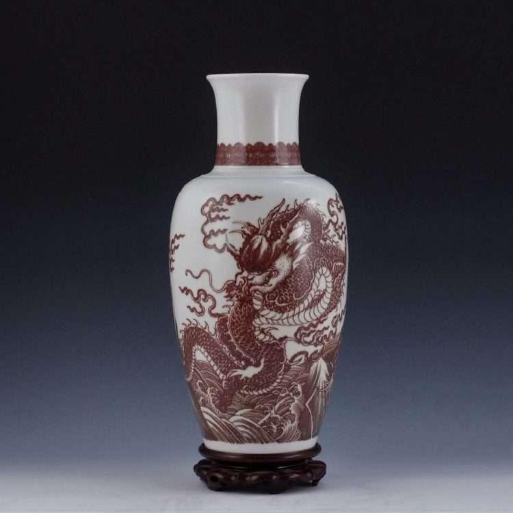 Eden Gallery Copy of an Under-glaze Red Kangxi vase