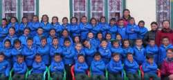 Students in Namche Bazaar