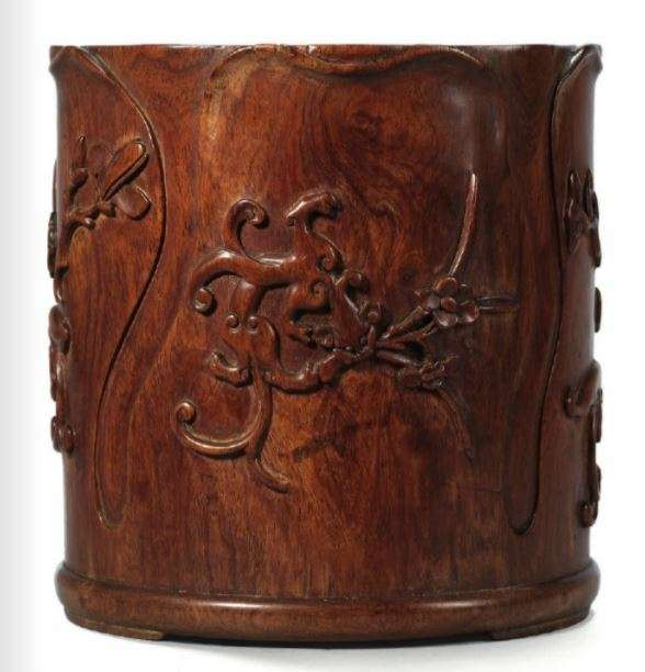 Late Ming early Qing Huanghuali Brush Pot
