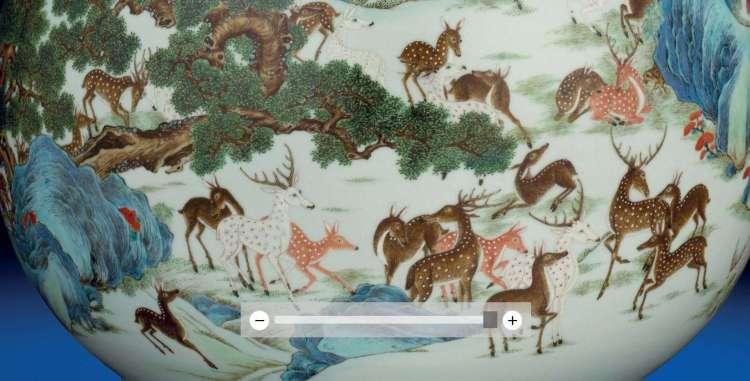 Qianlong Moonflask with deer
