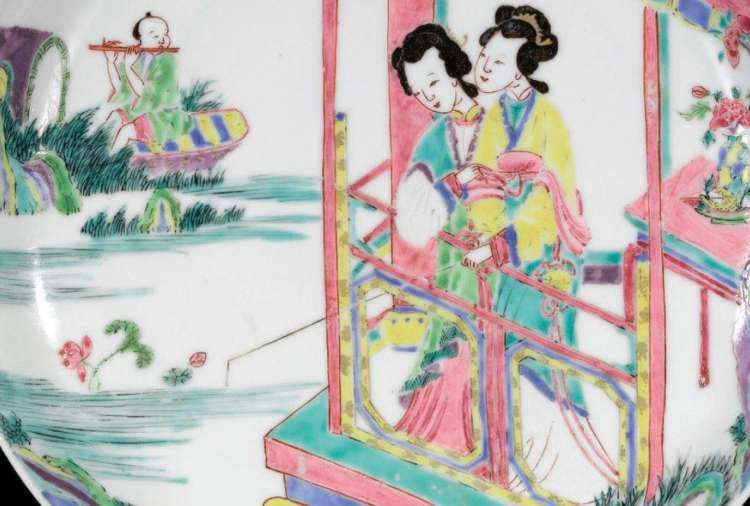 yongzheng famille rose plate