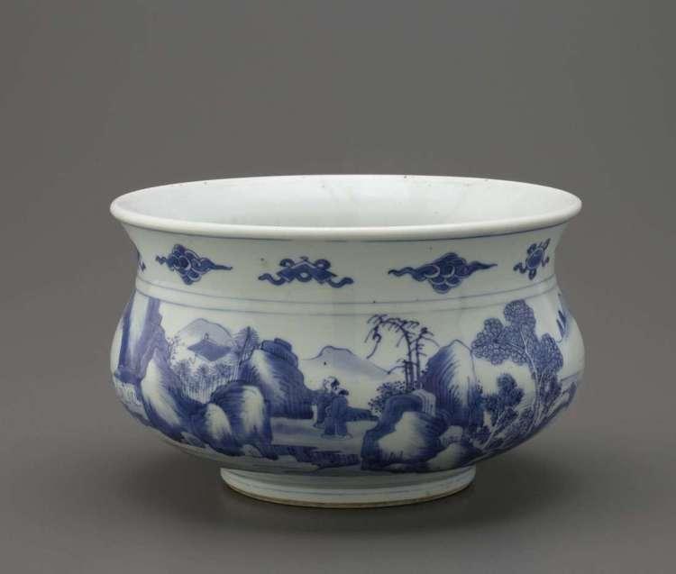 Kangxi porcelain incense burner