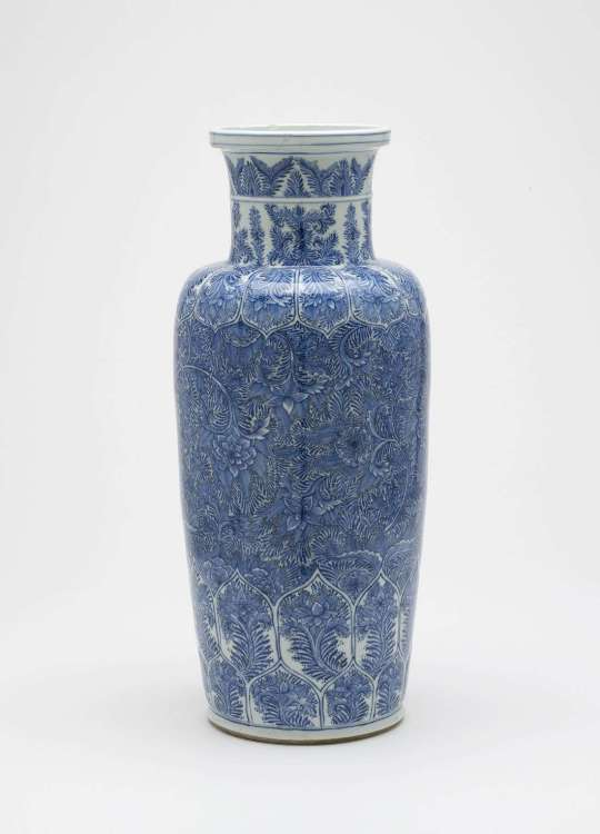 Kangxi porcelain baluster vase