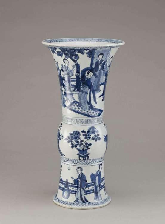Kangxi porcelain beaker  vase