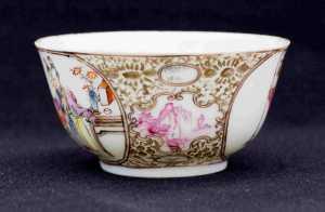 Qianlong Teeschale mit Personen4