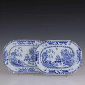 Chineses Octogonal Porcelain Qianlong Scales (x2)