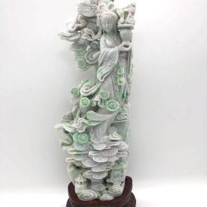 Large Jadeite Guanyin Chinese Celestial Figure
