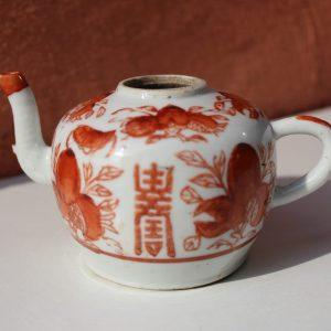 Porcelain tea pot CHINA, Tongzhi, 19th century