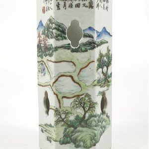 Chinese Qianjiang Hat Stand – Signed Ao Shaoquan – Late Qing/early Republican