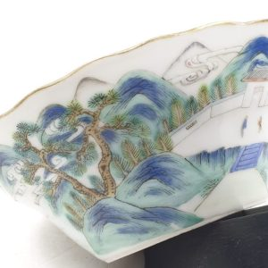 Chinese Qianjiang porcelain bowl – Landscape decoration – 19th century