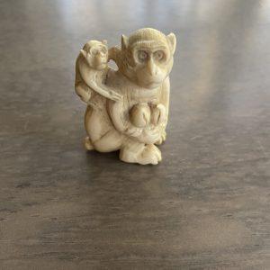 Antique Japanese monkey netsuke