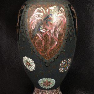 Japanese Nagoya Gold Wire Cloisonné Vase