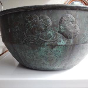 Japanese Shigaraki Massive Copper Bowl
