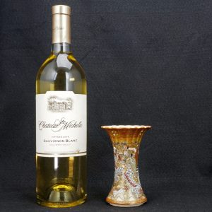 Japanese Meiji Satsuma Beaker Vase with Eight Legions and Dragon
