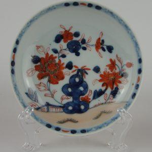A Good Chinese Imari Saucer, Early Qianlong Period