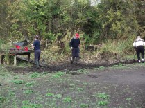Digging out silt - Oct 2011