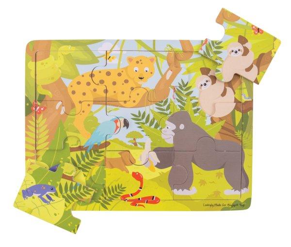 Puzzle 9 pièces jungle