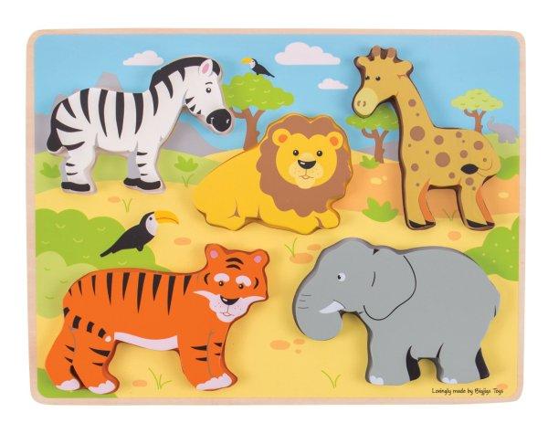 puzzle d'encastrement safari