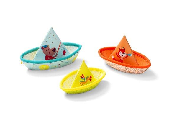 3 bateaux néoprène bain