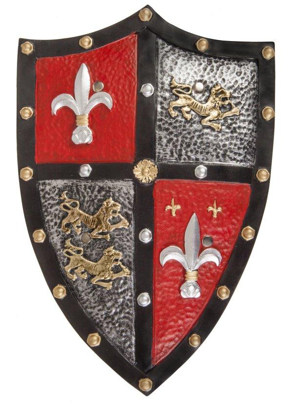 bouclier chevalier rouge