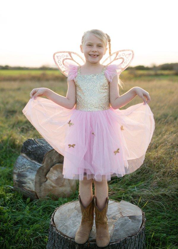 déguisement robe papillons dorés