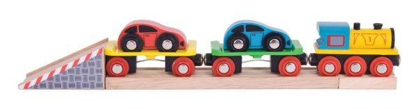 Train de voitures pour circuit de train en bois