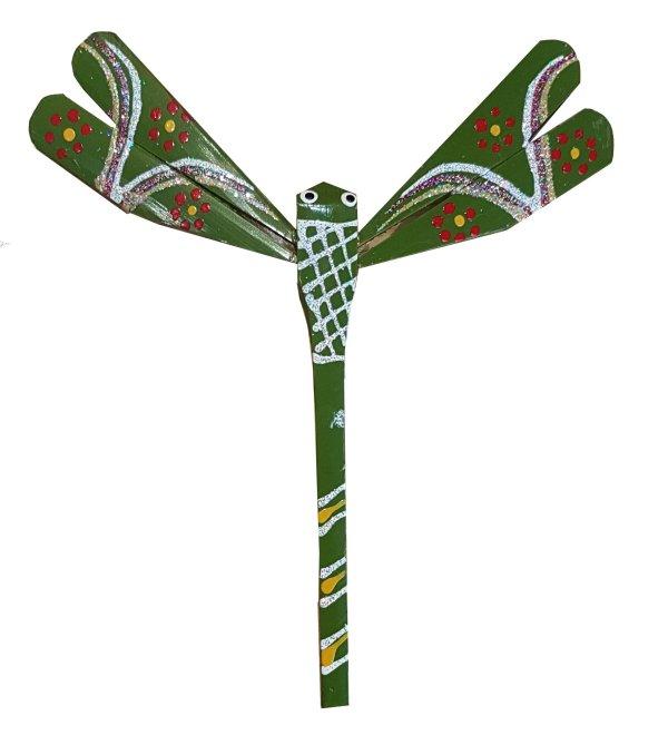 Libellule en bambou