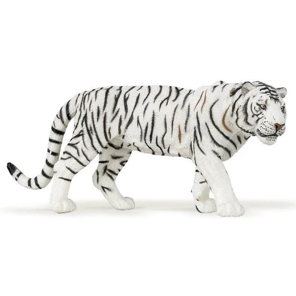 Figurine Les animaux du zoo, Tigre blanc, Papo, Bidiboule