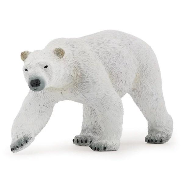 Figurine Les animaux du zoo, Ours polaire blanc Papo, Bidiboule