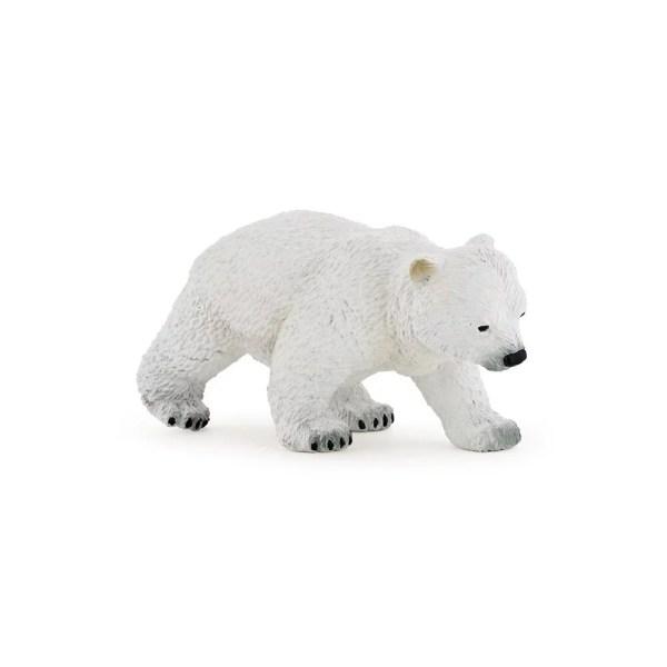 Figurine Les animaux du zoo, Bébé ours polaire, Papo, Bidiboule