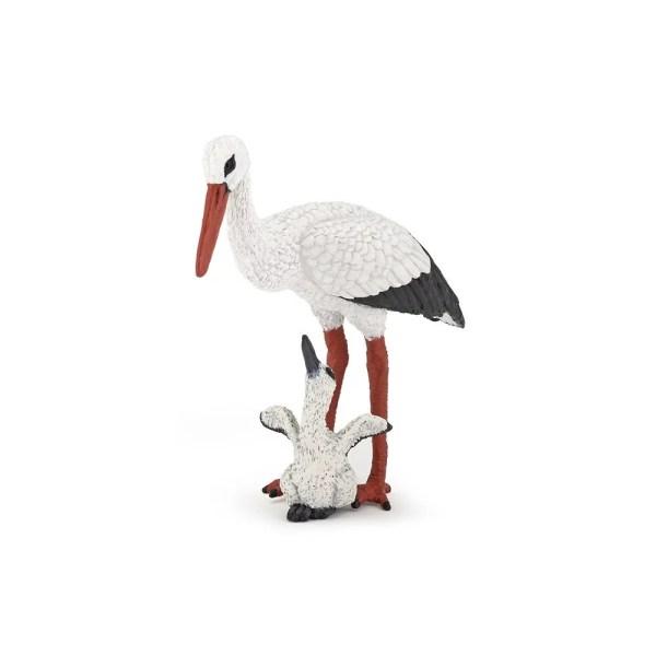 Figurine Oiseaux sauvages, Cigogne, Papo, Bidiboule