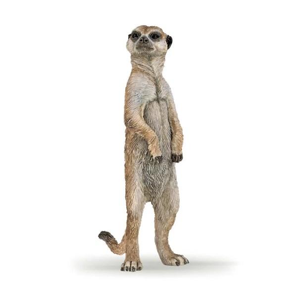 Figurine Les animaux du zoo, Suricat debout, Papo, Bidiboule