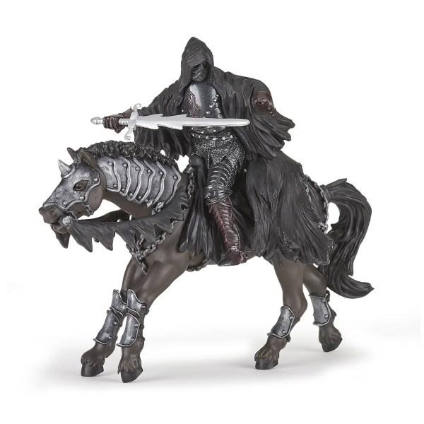 Figurines fanatastique, Cavalier noir sans visage et Cavalier noir sans visage chevauchant le Cheval noir fantastique, Papo, Bidiboule